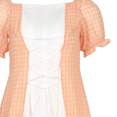 frill detail corset mini dress
